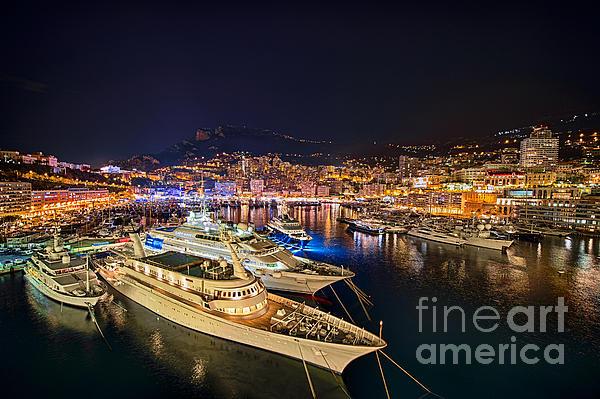 Monte Carlo Harbor Print by John Greim