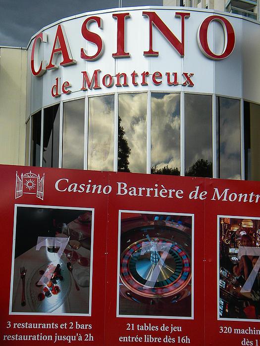 Montreux Casino Lake Geneva Switzerland Print by Robert Ford