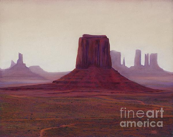 Monument Valley- Haze Print by Xenia Sease