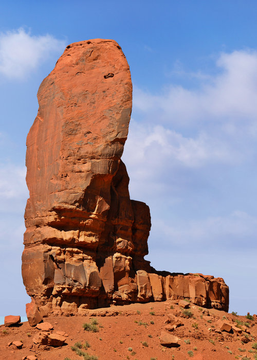 Monument Valley - The Thumb Print by Christine Till