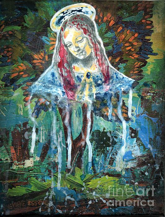 Monumental Tree Goddess Print by Genevieve Esson