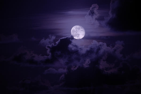 Moody Moon Print by Chad Dutson