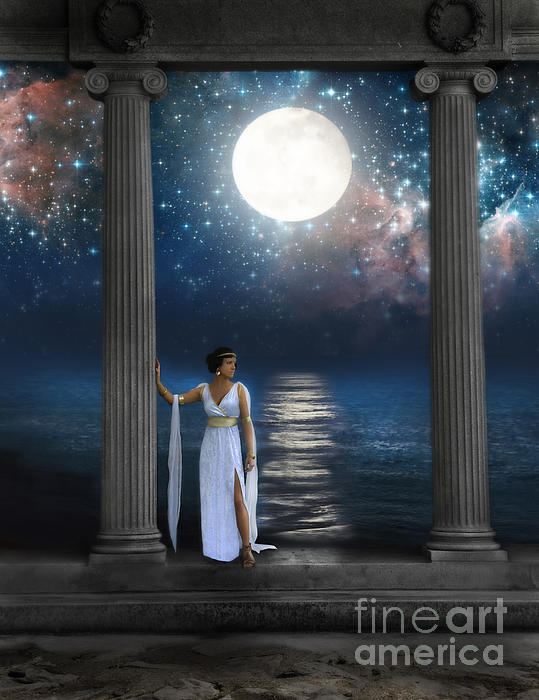 Moon Goddess Print by Jill Battaglia