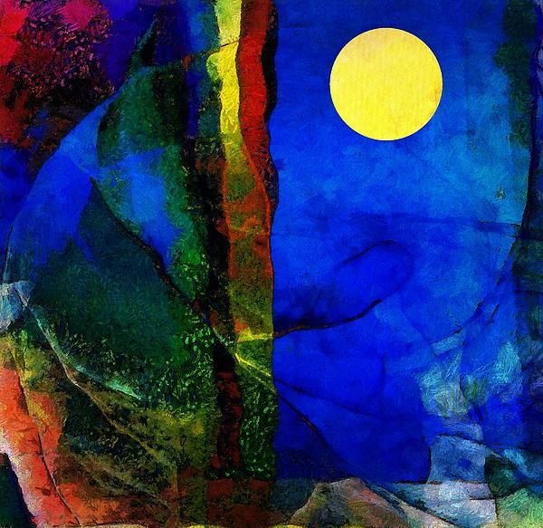 Moon In My Window Print by Gun Legler
