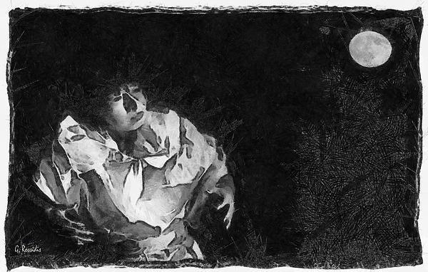 Moon Shadow Print by George Rossidis