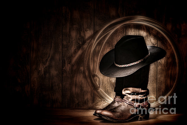 Moonlight Cowboy Print by Olivier Le Queinec
