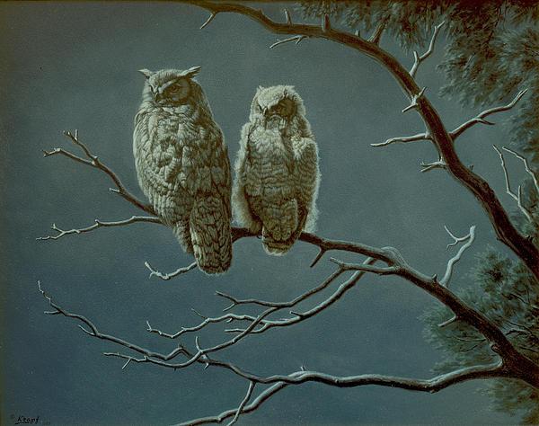 Moonlight Watchers Print by Paul Krapf