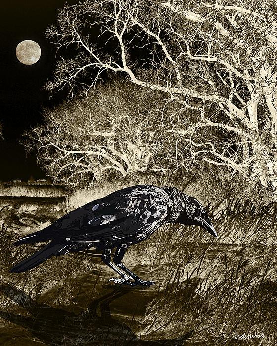 Moonshadow Print by Judy Wood
