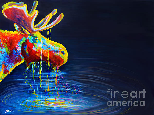 Moose Drool Print by Teshia Art
