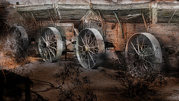 More Wagons East Print by Gunter Nezhoda