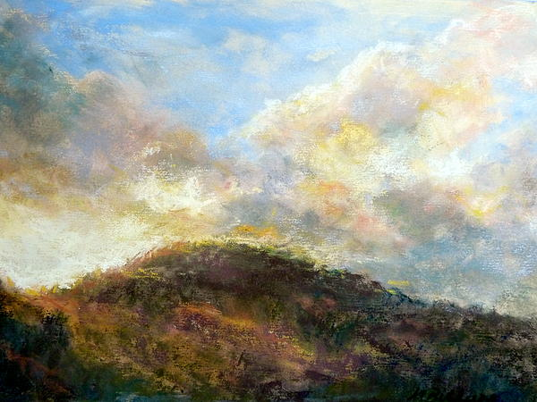 Morning At The Dune Print by Margaret Billups