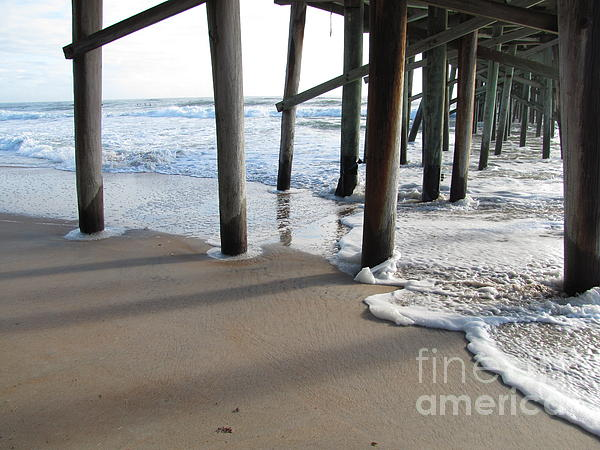 Morning At The Pier Print by Michele Napier-Berg