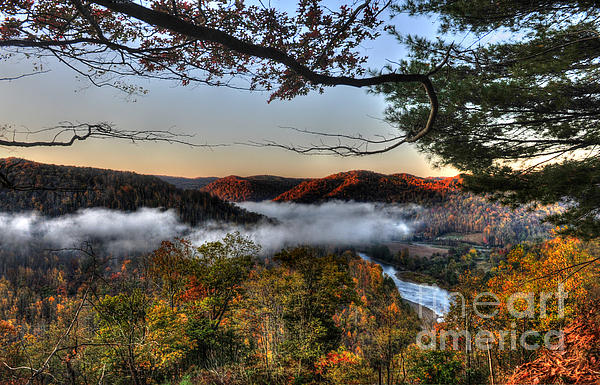 Morning Cheat River Valley Print by Dan Friend