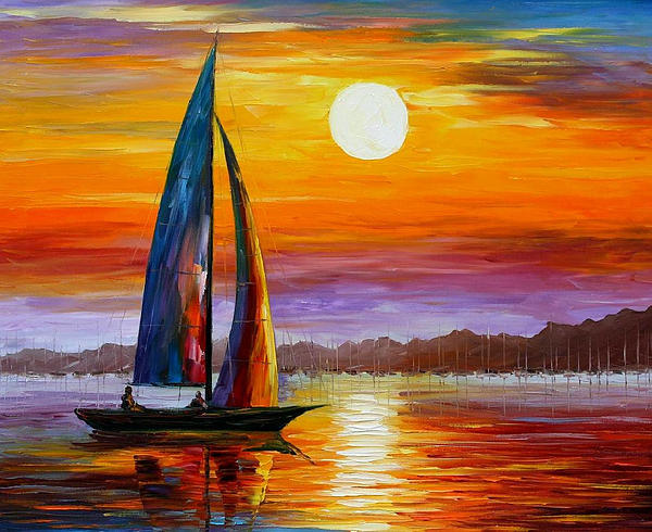 Leonid Afremov - Morning Light - PALETTE KNIFE Oil Painting On Canvas By Leonid Afremov
