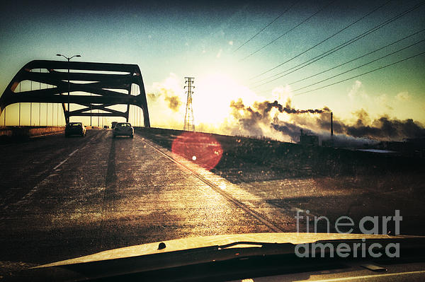 Morning On The Leo Frigo Bridge Print by Shutter Happens Photography