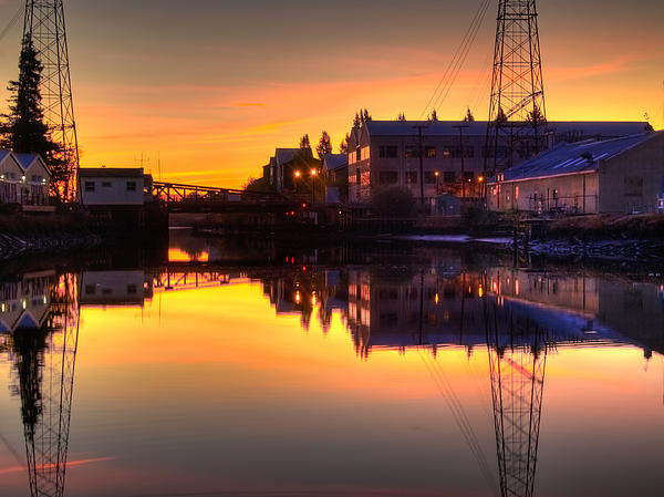 Morning On The River Print by Bill Gallagher