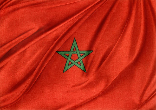 Moroccan Flag Print by Les Cunliffe
