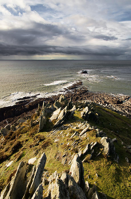 Morte Point In North Devon Print by Pete Hemington