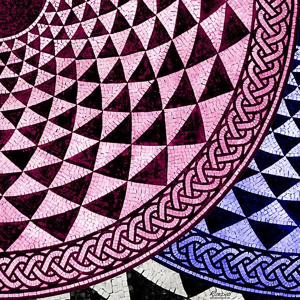 Mosaic Quarter Circle Bottom Right  Print by Tony Rubino