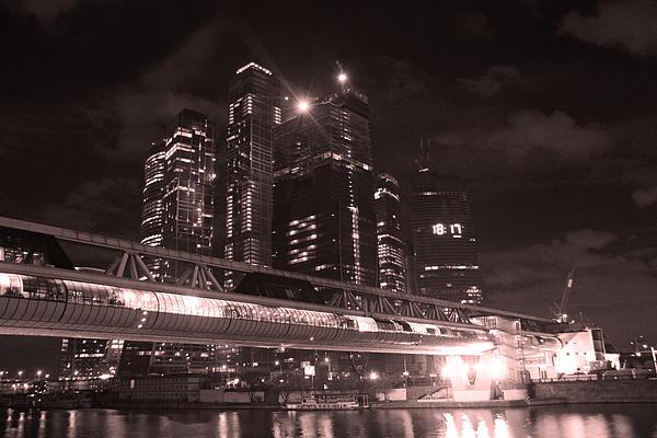 Moscow At Night Print by Lali Kacharava