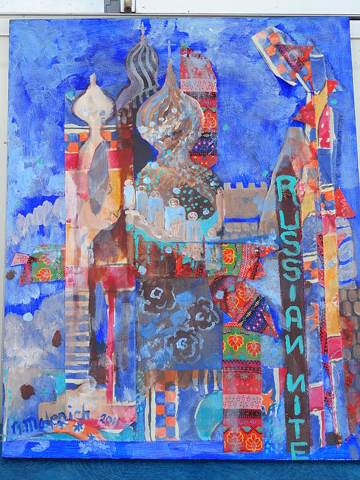 Moscow Nite Print by Norma Malerich