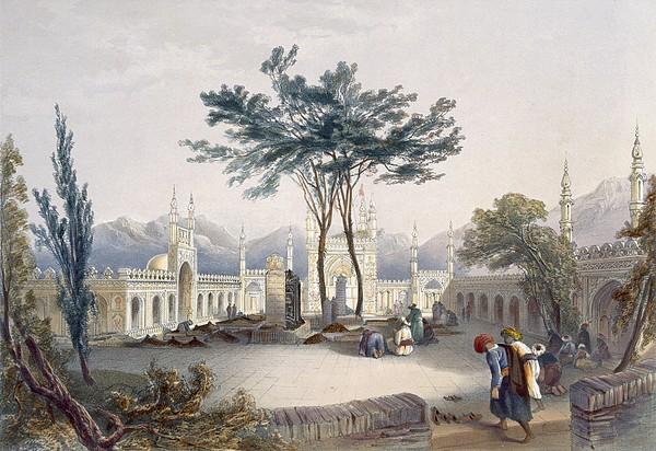 Mosque Of Goolaum Hoossein Huzrut-jee Print by James Rattray