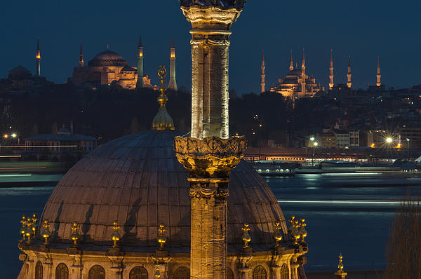 Mosques In Istanbul Print by Ayhan Altun