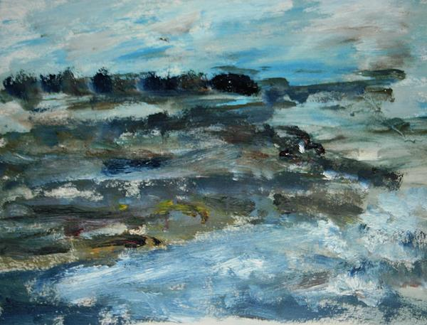 Moss Beach Print by Edward Wolverton