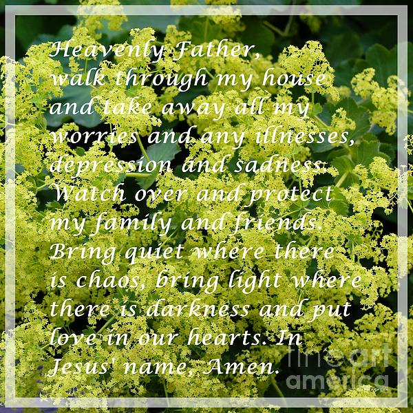 Most powerful prayer with ladies mantle print by barbara griffin