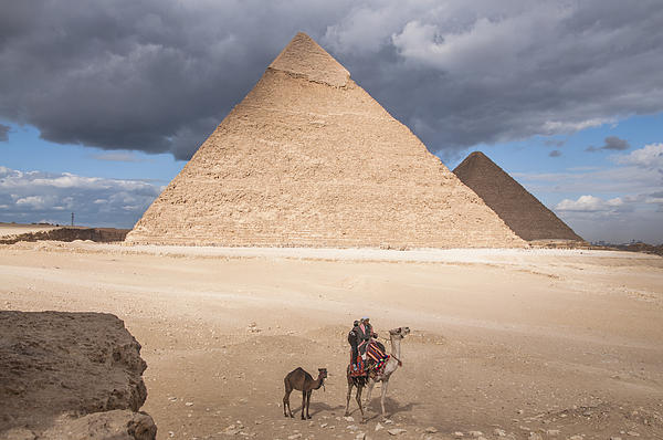 Michael Brewer - Mother and Baby Camel at the Pyramids