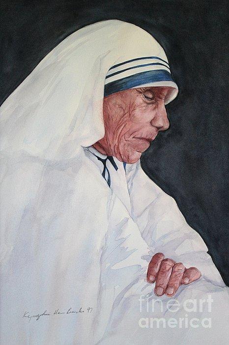 Mother Teresa Print by Kyong Burke