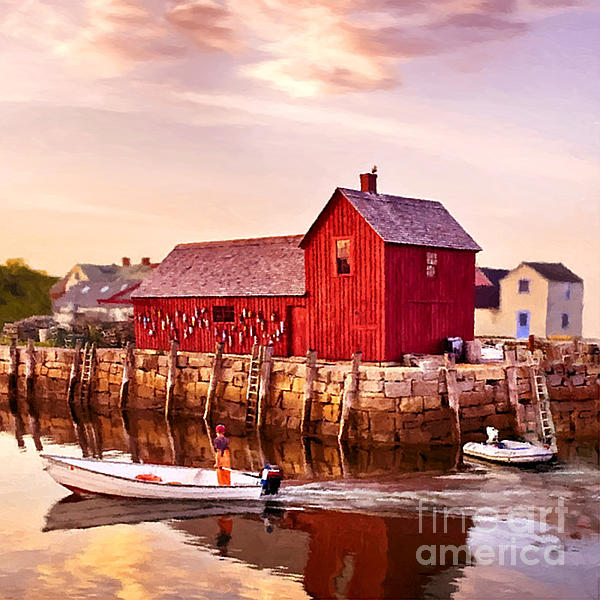 Motif Number One Rockport Massachusetts Print by Bob and Nadine Johnston
