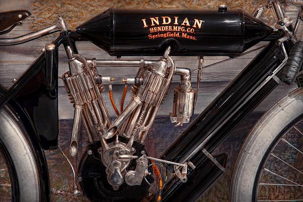 Motorcycle - An Oldie But A Goodie  Print by Mike Savad