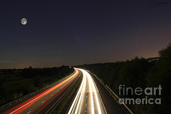 Motorway Light Trails Print by Jay Harrison
