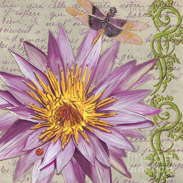 Moulin Floral 1 Print by Debbie DeWitt