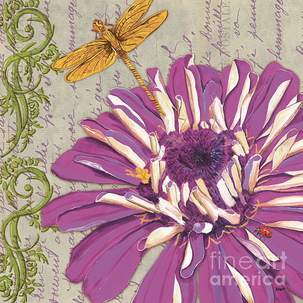 Moulin Floral 2 Print by Debbie DeWitt