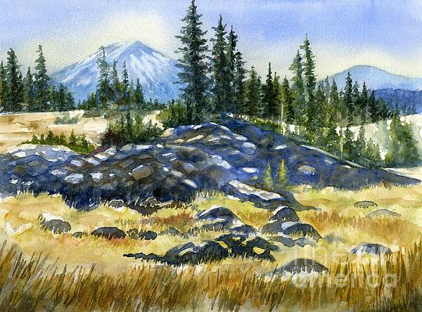 Mount Bachelor View Print by Sharon Freeman