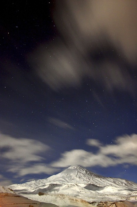 Mount Damavand At Night Print by Science Photo Library