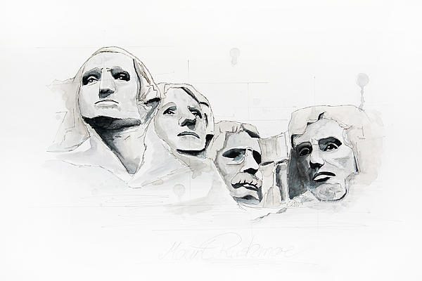 Mount Rushmore Print by Astrid Rieger