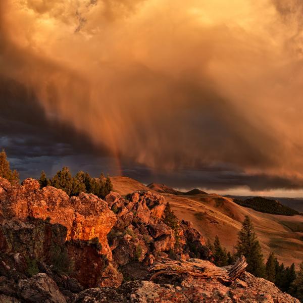 Mountain Drama Print by Leland D Howard