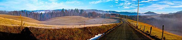 Mountain Farm Panorama Version 2 Print by Tom Culver