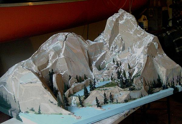 Mountain Model For Aviator Trailing By David Larcom