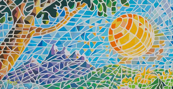 Mountain Of God Print by Anthony Mwangi