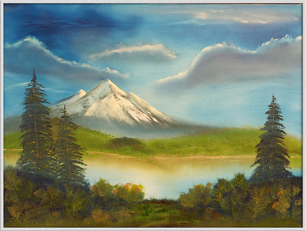 Mountain Overlook Print by Joyce Krenson