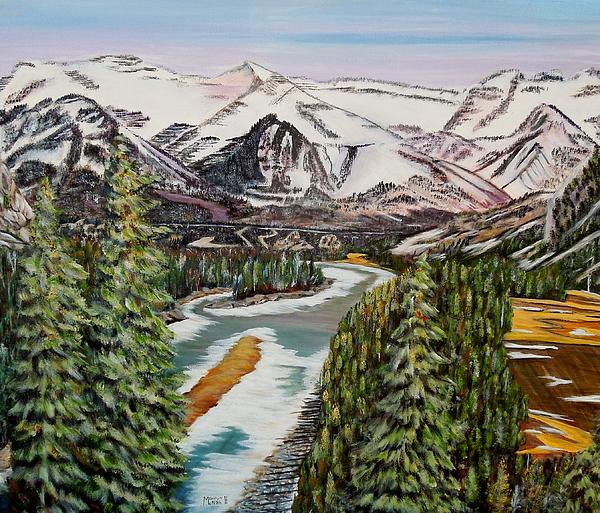 Mountain Spring - Banff Springs Print by Marilyn  McNish