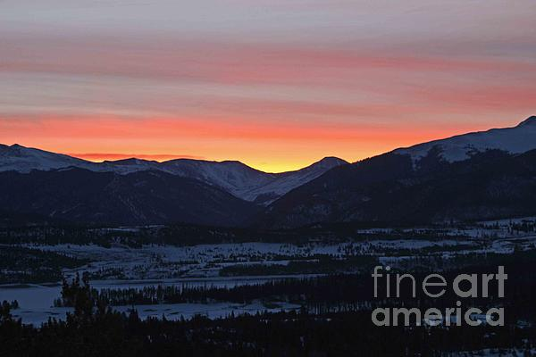Mountain Sunrise Print by Fiona Kennard
