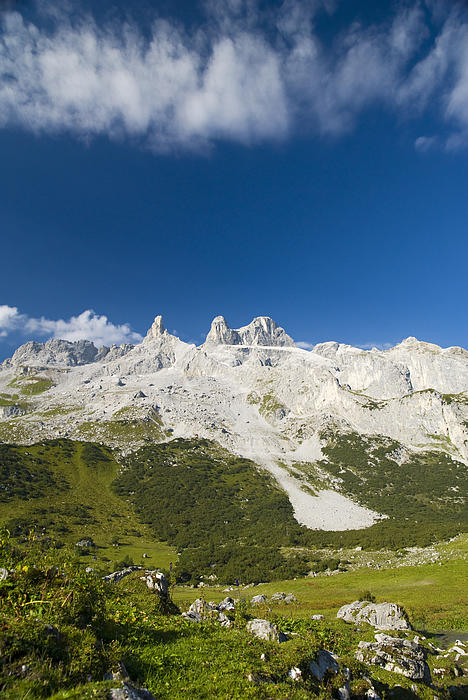 Mountains In The Alps Print by Chevy Fleet