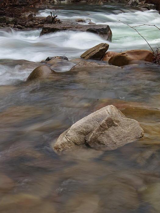 Mp0007 Richland Creek Grey Rock Print by Matthew Parks