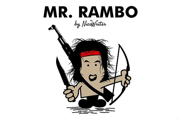 Mr Rambo Print by NicoWriter