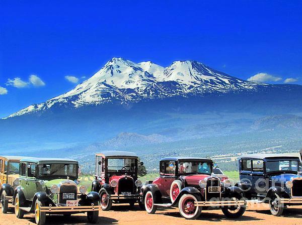 Irina Hays - Mt. Shasta and retro cars